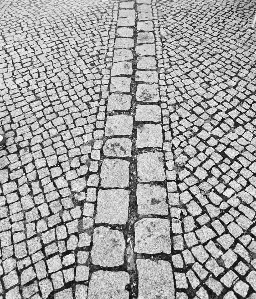 Rastro del muro de Berlín